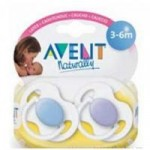 PHILIPS AVENT - Set 2 suzete din silicon, transparente 3+