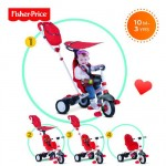 Fisher-Price - Tricicleta 3 in 1 Charisma Rosu