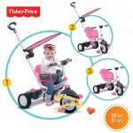Fisher-Price - Tricicleta 3 in 1 Charm Roz