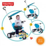 Fisher-Price - Tricicleta 3 in 1 Charm Albastra