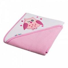 Akuku - Prosop de baie cu gluga pink-A1233