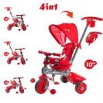 Baby Trike - Tricicleta Baby Trike 4 in 1 Giraffe Red