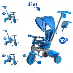 Baby Trike - Tricicleta Baby Trike 4 in 1 Hippo Blue