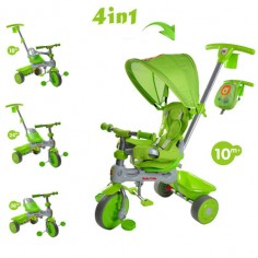 Baby Trike - Tricicleta Baby Trike 4 in 1 Lion Green