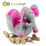 Kinderkraft - Balansoar cu roti 2 in 1 Elephant cu sunete
