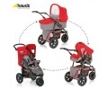 Hauck - Carucior Jogger Viper Trio Set V12 Charcoal Red