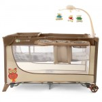 Kinderkraft - Patut pliabil Joy Completo Brown