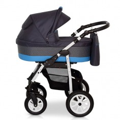 Krausman - Carucior 3 in 1 Jet Grey-Blue