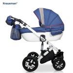 Krausman - Carucior 3 in 1 Jools Eclipse Blue