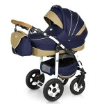 Krausman - Carucior 3 in 1 Ride Dark Blue