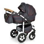 Krausman - Carucior 3 in 1 Ride Dark Red