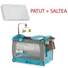 Krausman - Patut Play Yard DeLuxe + Saltea Cocos