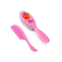 Perie cu peri super moi si pieptan roz