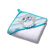 Prosop de baie pentru bebelusi cu capison 100x100 cm Terry 06