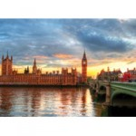Educa - Puzzle Suset On The River Thames 1000 de Piese