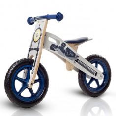 Kinderkraft - Bicicleta din lemn fara pedale Runner Moto Deluxe