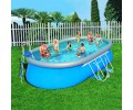 Bestway - Set Piscina Oval Fast Set