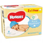 Set 3xServetele umede Huggies Pure 56 buc