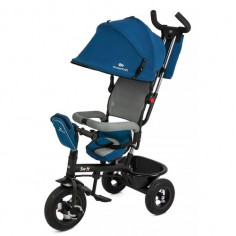 Kinderkraft - Tricicleta 6 in 1 cu scaun rotativ Swift Blue