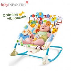 babyINFANTINI - Balansoar 2 in 1 Happy Friends Blue