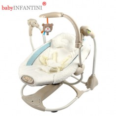 babyINFANTINI - Leagan si balansoar transformabil 2 in 1 Bear cu conectare la priza
