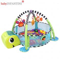 babyINFANTINI - Salteluta de activitati Grow-With-Me cu mingiute