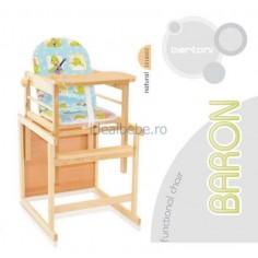 Bertoni - Scaun masa lemn Baron natur