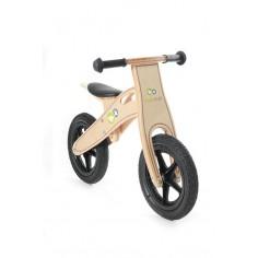 KinderKraft - Bicicleta din lemn fara pedale Runner Deluxe Natur