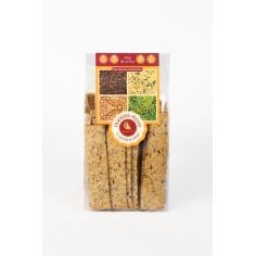 Crackers vegani cu seminte de canepa, in si chia – 125 g