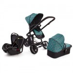Kinderkraft - Carucior 3 in 1 Trend Blue