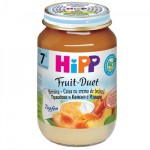 Hipp Duet cu Piersici, caise si crema de branza, din a 7-a luna, 160 gr