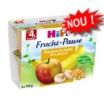 Hipp Gustare cu fructe - Banane si Mere, de la 4 luni, 4 100 gr