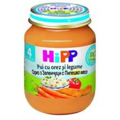 Hipp Pui cu orez si legume, de la 4 luni, 125 gr