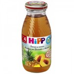 Hipp Suc de piersica si ananas, 200 ml