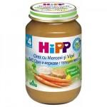 Hipp Vitel cu morcov si orez, de la 4 luni, 125gr