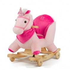 Kinderkraft - Balansoar cu roti 2 in 1 Horse Pink