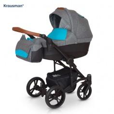 Krausman - Carucior 3 in 1 Tripp Grey Turqoise