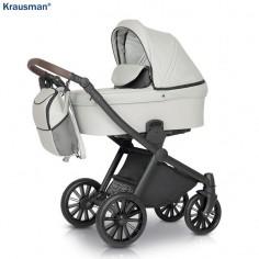 Krausman - Carucior 3 in 1 Rider Soft Light Grey