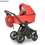 Krausman - Carucior 3 in 1 Rider Soft Red