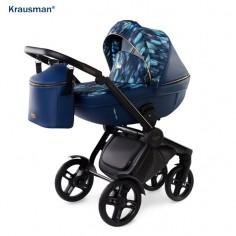 Krausman - Carucior 3 in 1 Topaz Lux Dark Blue LIMITED