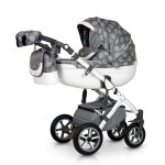 Krausman - Carucior 3 in 1 Contempo White Grey