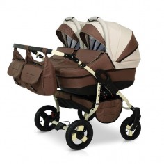 Krausman - Carucior de gemeni Twin Brown