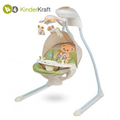 Kinderkraft - Leagan Teddy Bear cu conectare la priza