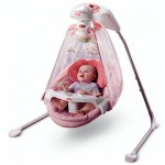 Fisher-Price - Leagan Fisher-Price Butterfly Garden Papasan Cradle Swing
