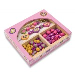 Melissa & Doug - Set de margele din lemn Sweet Hearts