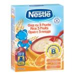 Nestle Cereale Orez cu 3 fructe, 250 gr