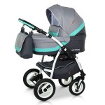 Babies - Carucior 3 in 1 Optima Grey-Turqoise