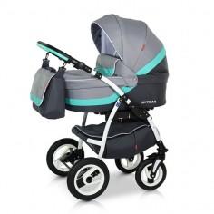 Babies - Carucior 3 in 1 Optima Grey-Turqoise
