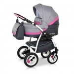 Babies - Carucior 3 in 1 Optima Grey Pink