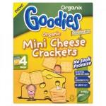 Organix Biscuiti Mini Crackers cu branza, de la 12 luni